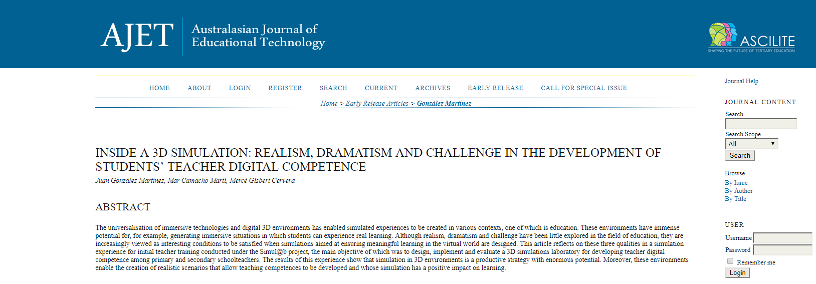 Nova publicació a Australasian Journal of Educational Technology